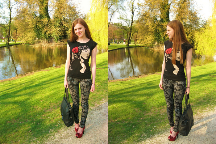 Fashion Outfit Blog Blogger Caro Emerald Flower Pants