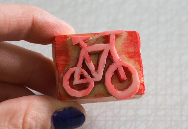 Blocktryck cykel