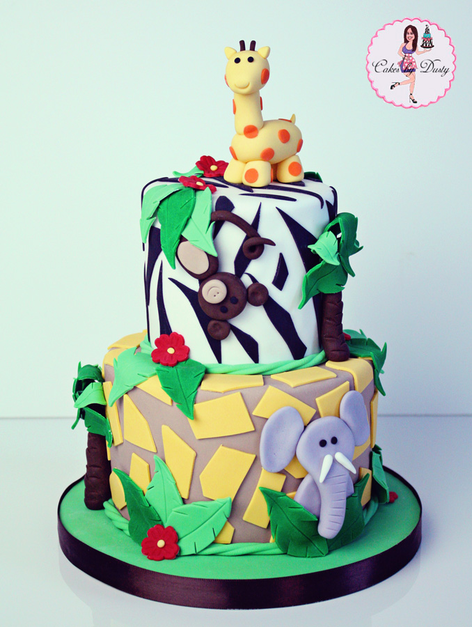 cakes by dusty jungle themed baby shower cake