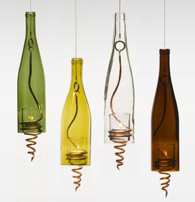 Arte y arquitectura dise o reciclado l mparas con - Botellas con velas ...