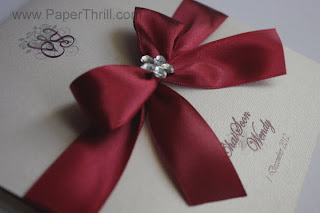 Red theme chinese wedding invitation card