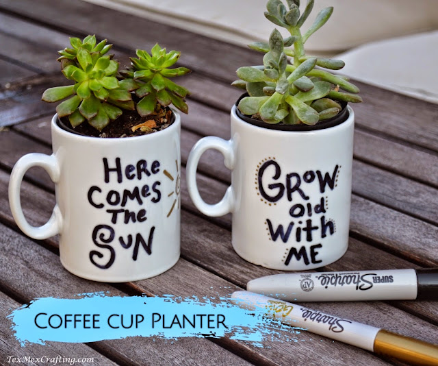 Coffee Cup Planters