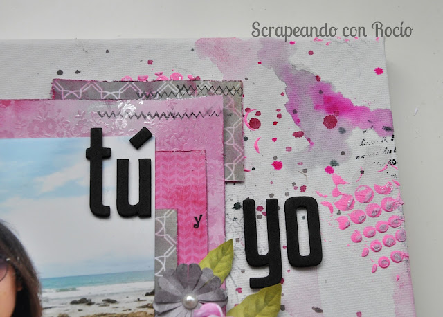 Lienzo mix media scrapbooking