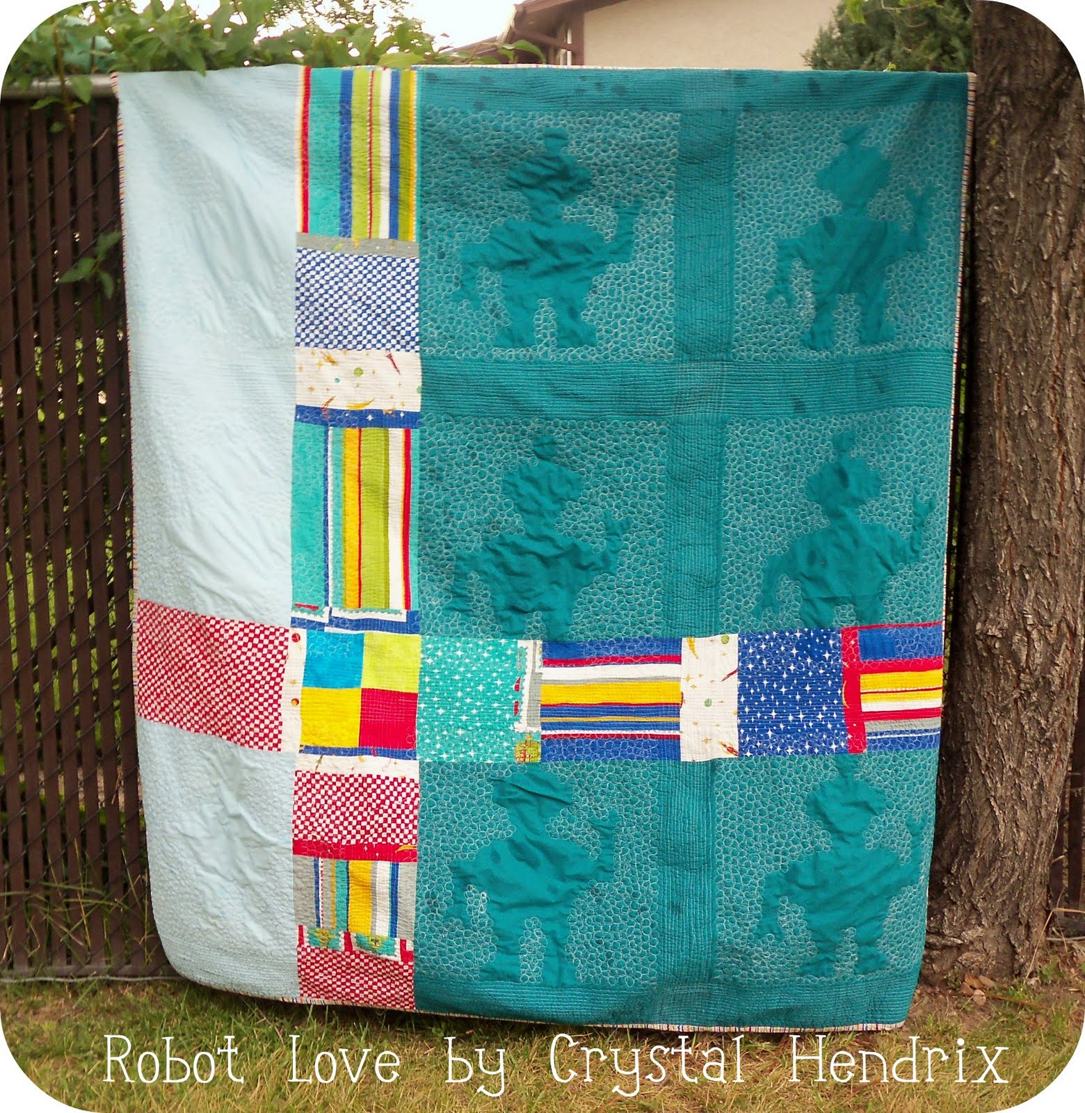 Hendrixville robot love on the moda bake shop for Robot quilt fabric