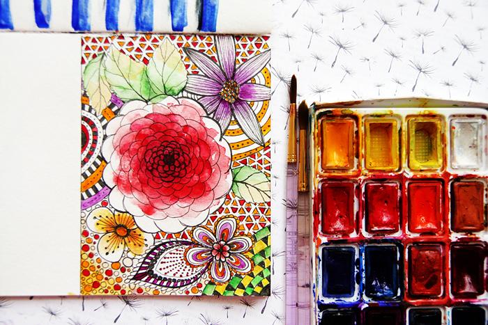 continue to watercolor