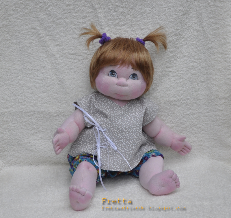 "38 cm / 15"" Soft Sculpture Baby Girl, Child Friendly Cloth Doll."