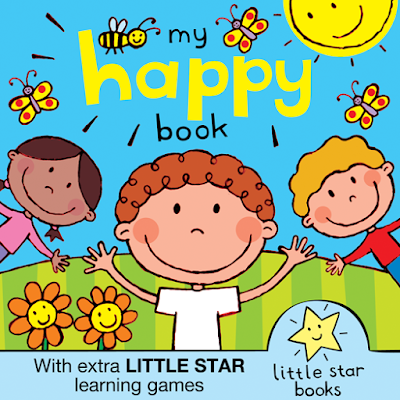 Cover illustration for My Happy Book A children's kindle picture book with added activities