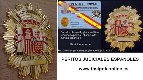 http://www.insigniaonline.es/placaperitojudicial.html
