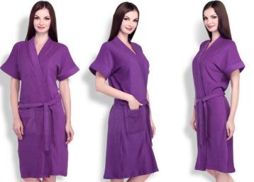 Buy Sand Dune Purple Bathrobe at Rs. 299 : BuyToEarn