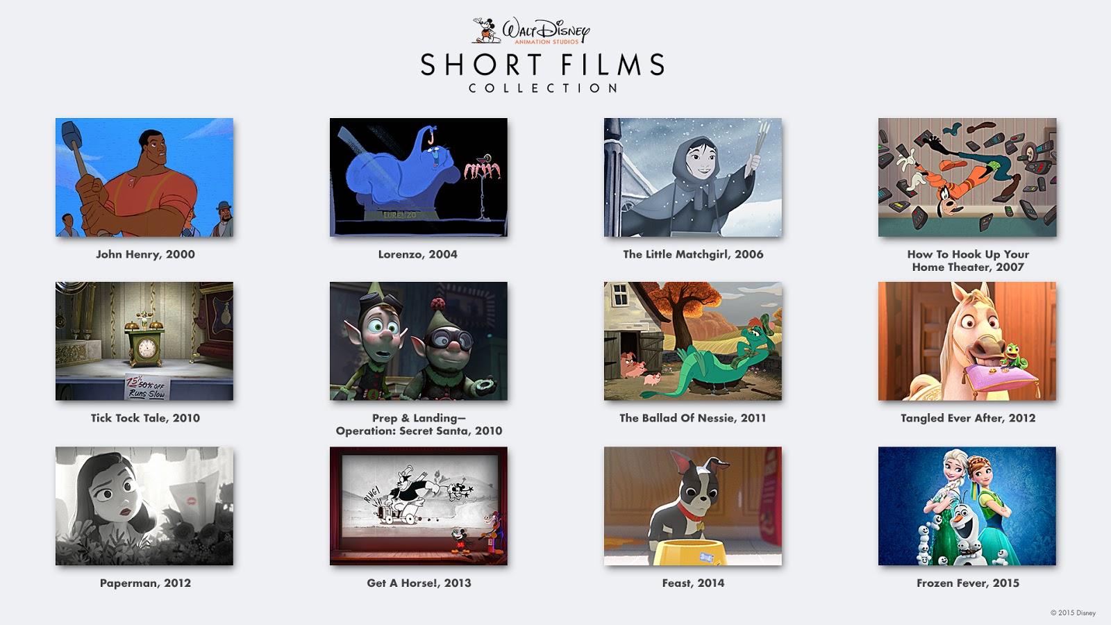 Walt Disney Animation Studios Short Films Collection On Blu Ray 8 18