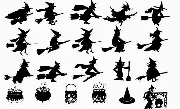 Maestra de Primaria: Brujitas de Halloween para imprimir y decorar ...