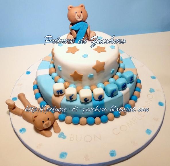 Estremamente Torta orsetti per il primo compleanno del mio bimbo   Polvere di  MP56