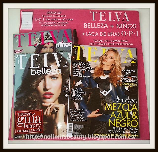 Revista Telva Octubre 2013: regalos, muestras y suplementos