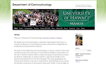 Communicology Department Official Website