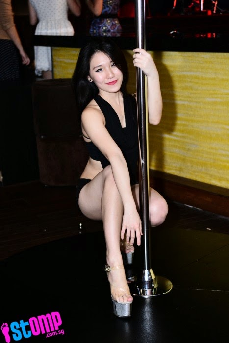 Skilful pole-dancers set temperatures soaring throughout the evening