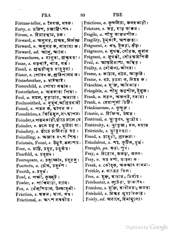 english to bengali translation dictionary