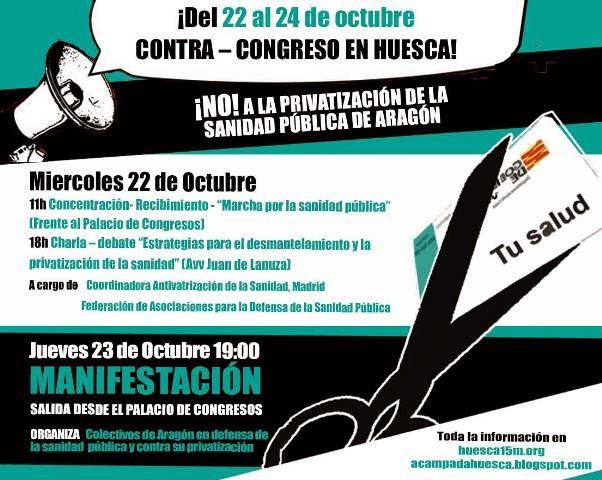 Programa Contra- Congreso en Huesca