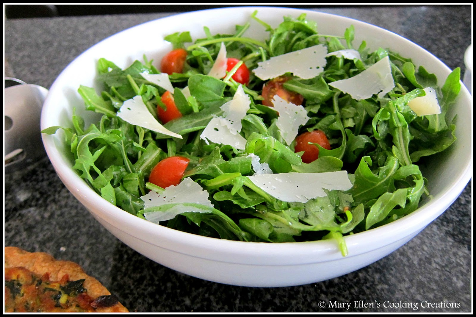 Mary Ellen's Cooking Creations: Arugula Salad with Lemon ...