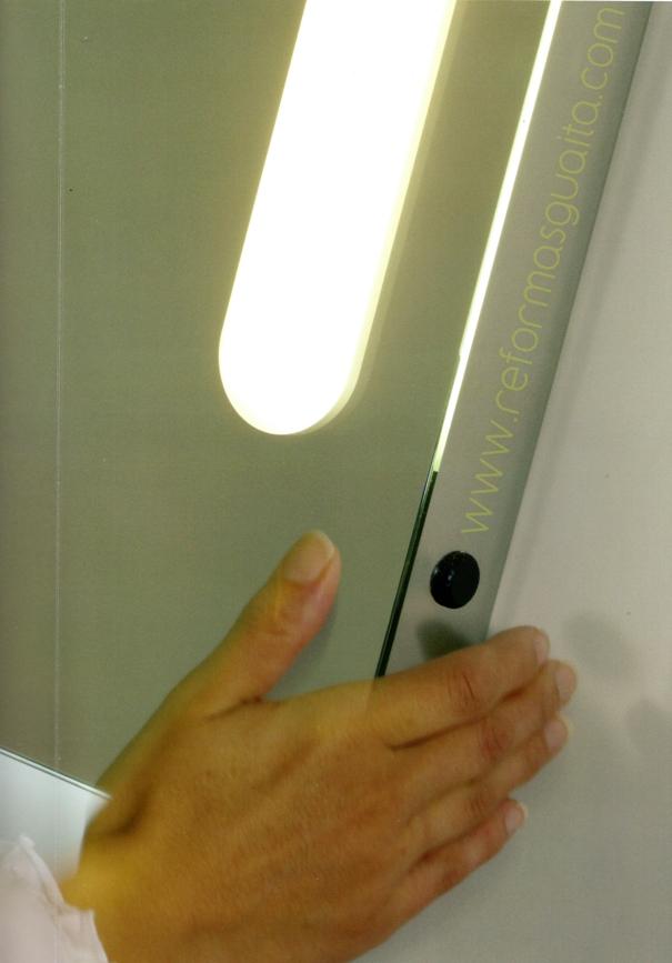 sensor movimiento espejo luz baño maquillaje