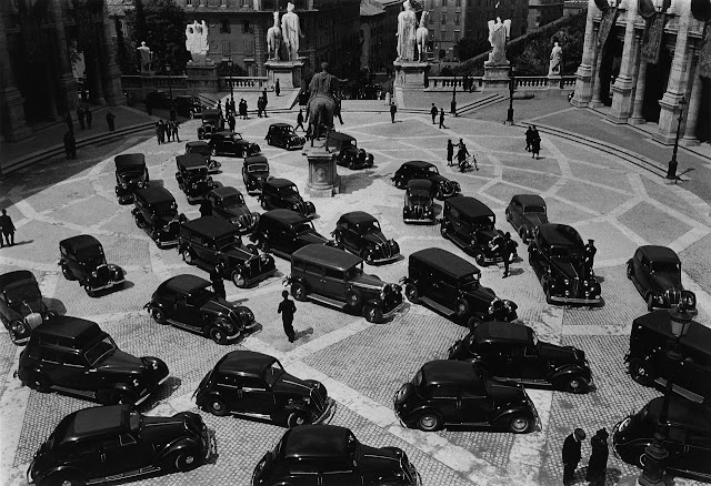  Vintage Cars | Minister's Meeting, Rome 1940 | Carl Mydans Photography | Vintage Photography