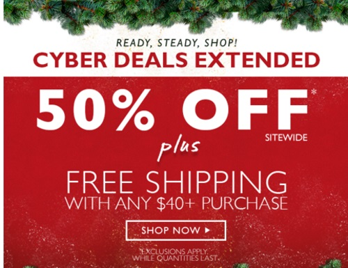 The Body Shop Cyber Monday Extended 50% Off + Free Shipping + Free Gift
