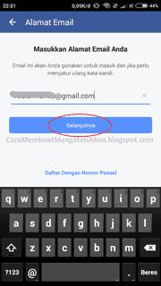 buat akun facebook di android