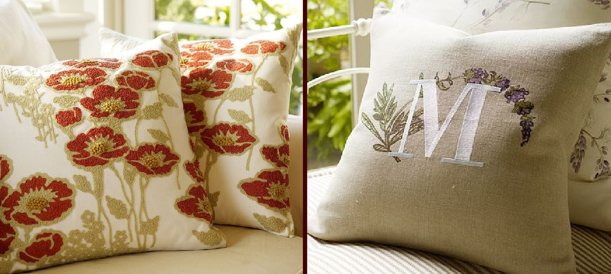 Pottery Barn KnockOff Pillows The Scrap Shoppe New Poppy Decorative Pillows