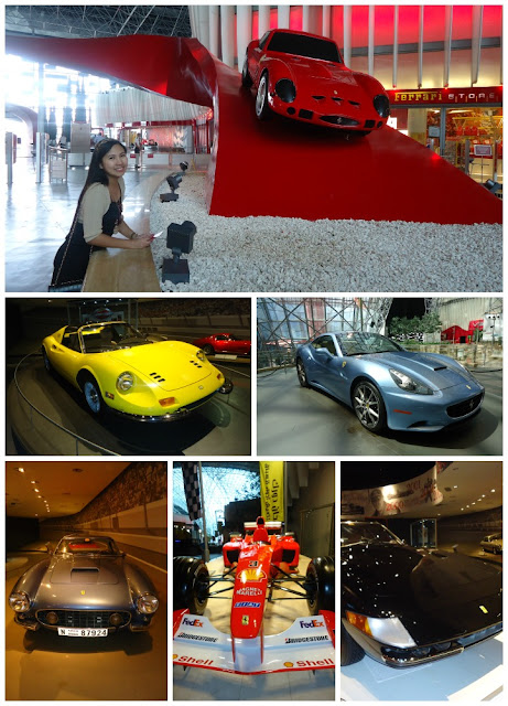 Cars in Ferrari World Yas Island Abu Dhabi