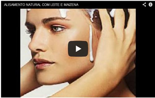 alisar o cabelo com maizena e leite na versão vídeo