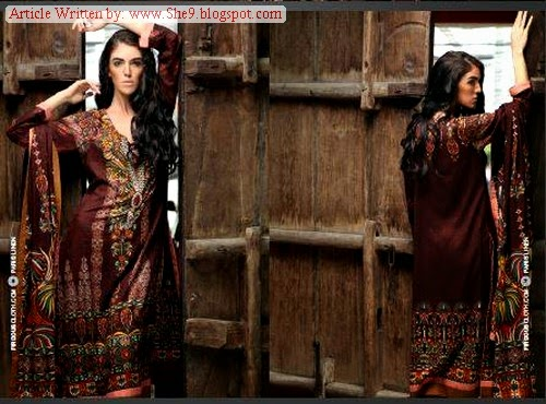 Firdous Winter/Fall Paris Linen Dress Designs