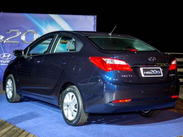 Hyundai HB20S Sedã - perfil traseiro - Azul Ocean