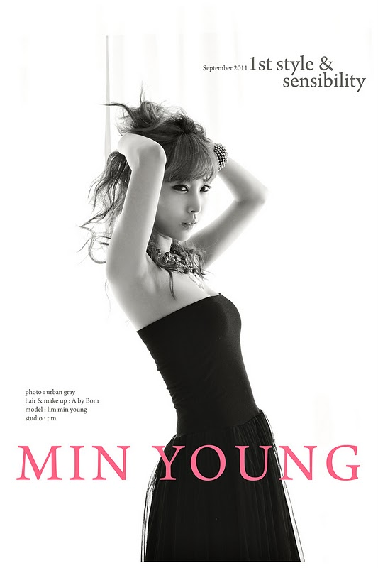 Im Min Young in Black Dress