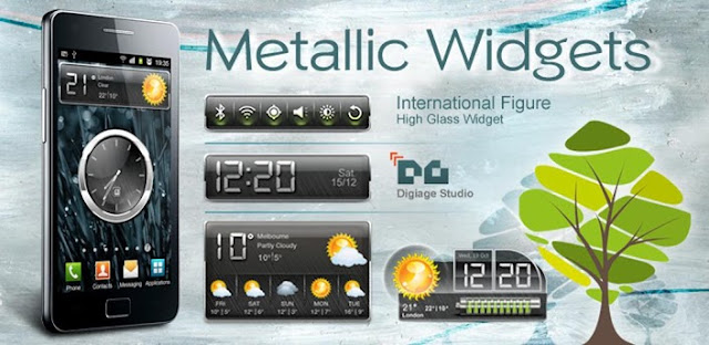 HD Metallic Widgets R2 v5.2 APK