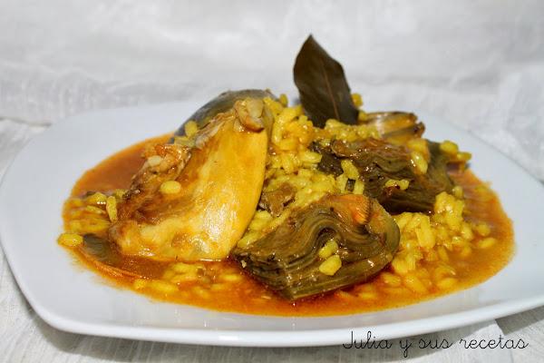 Arroz caldoso con pollo cocinar en casa es - Arroz caldoso con costillas y alcachofas ...