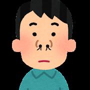 鼻毛が出ている人のイラスト