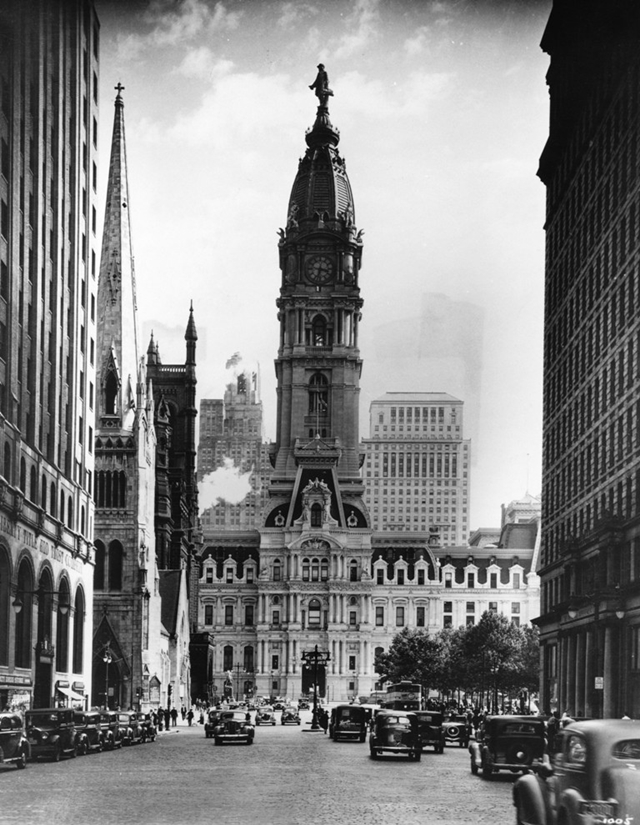 Old picture of the Philadelphia City Hall
