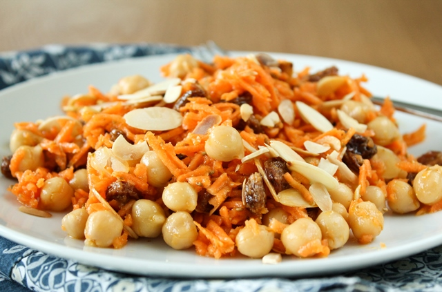 and chickpea salad moroccan carrot salad with chickpeas recipe yummly ...