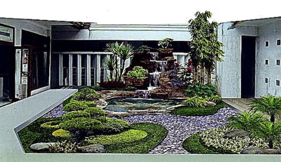 Desain Modern Taman Rumah Minimalis