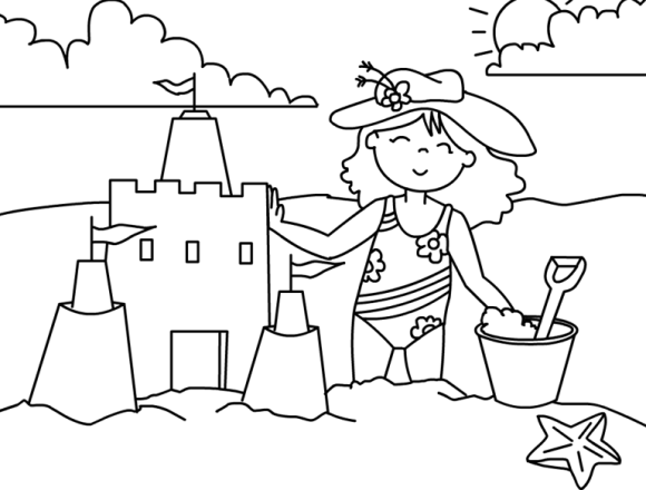 8 Fun Summer Coloring Pages For Preschools