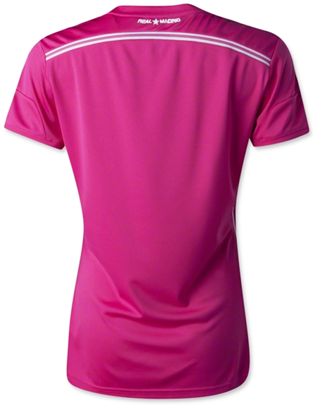 Real Madrid Ladies reveal pink away kits for 2014-15 best Quality