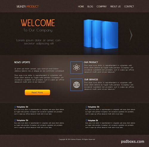 Free Psd Product Web Template