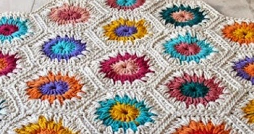 Patrones trapillo alfombra hexagonos de trapillo - Alfombra de trapillo cuadrada ...