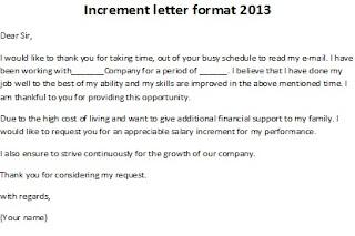 increment letter format 2013, increment letter format