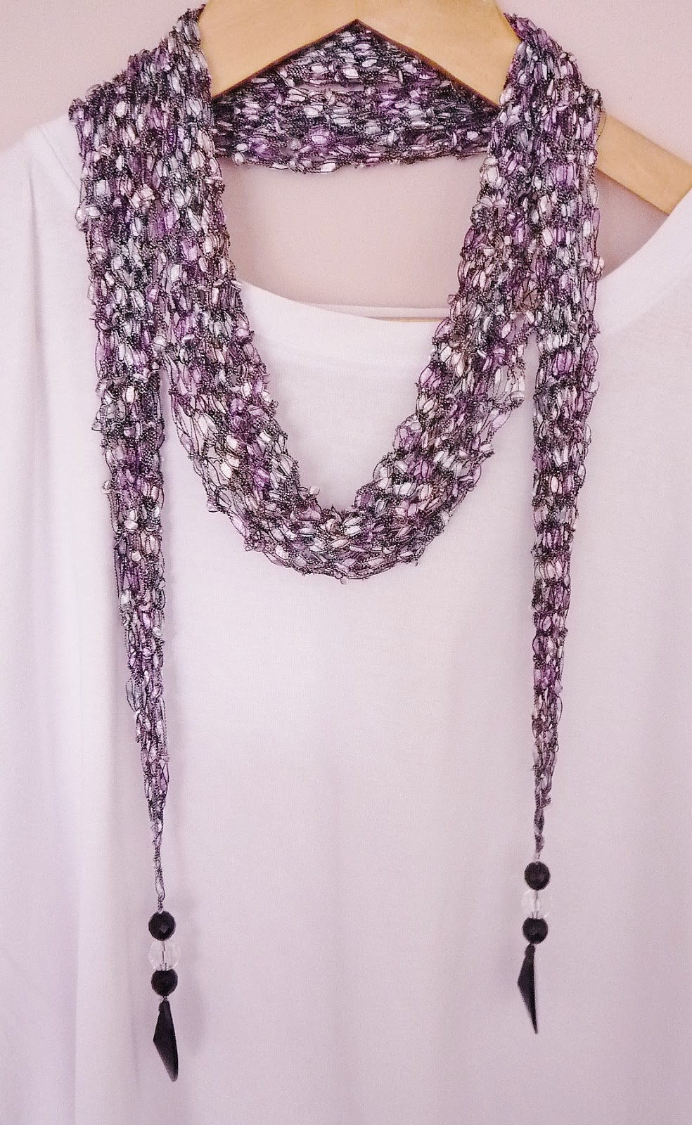 Free Knitting Pattern For Ribbon Scarf : the Creations of Crazy Dazy
