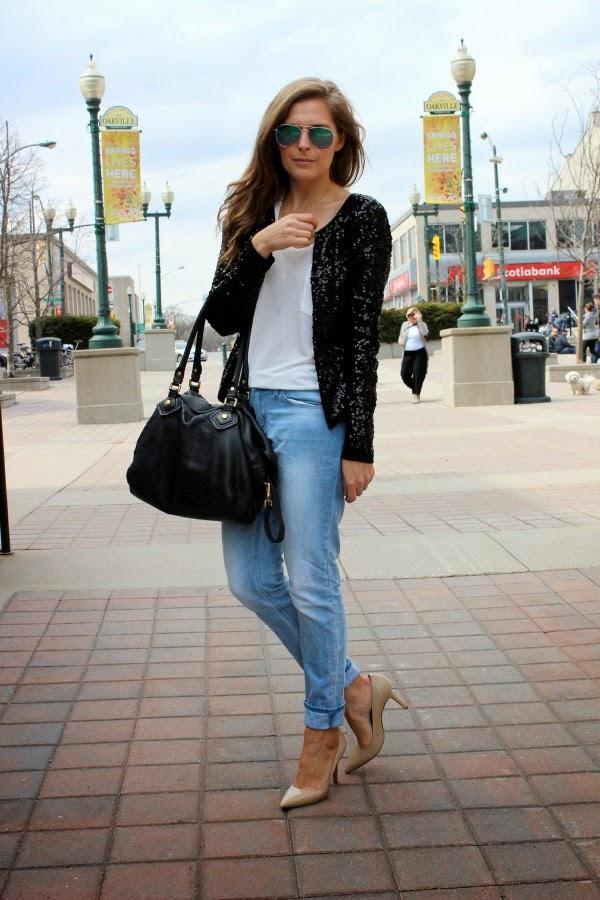 black sequin jacket