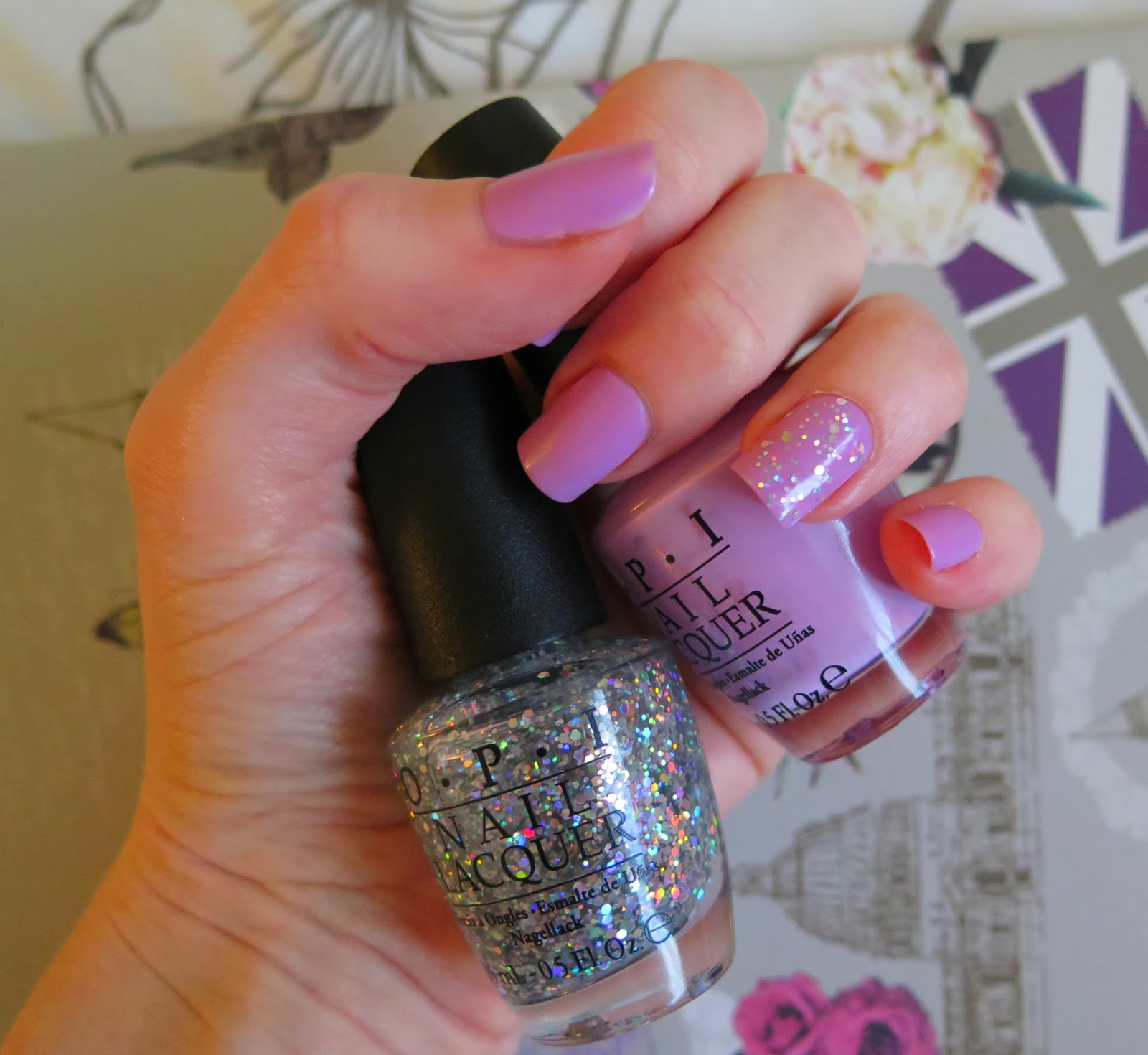 OPI snowflakes in the air, lucky lucky lavender