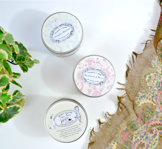 Harper's Bizarre Candles - Snuggley Blanket, Raspberry & Rose, Scary Mary