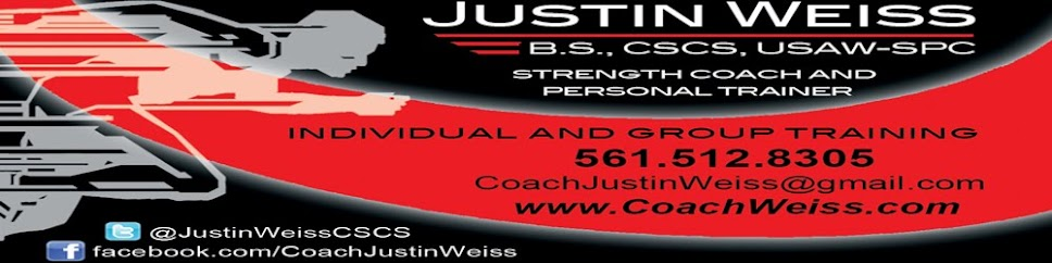 Justin Weiss: Strength and Conditioning Coach