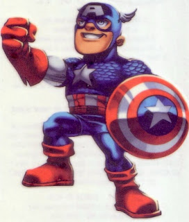 Captain America from Marvel Super Hero Squad tattoos