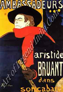 "The Great Artist Henri de Toulouse-Lautrec ""Jane Avril at the Jardin de Paris"" 1893 poster: 51¼"" x 37½"""